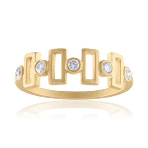 Harmony Ring with Diamonds & 14k Gold