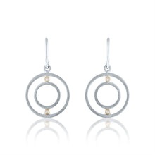 Petite Harmony Earrings with Diamonds, White Rhodium, Silver & 14k Gold