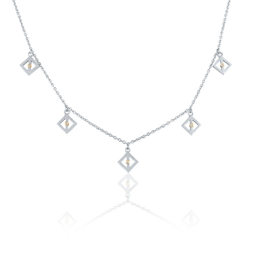 Dangle Necklace with Diamonds