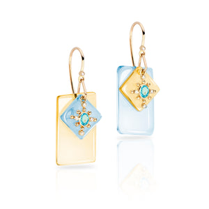 Mediterranean Gem Slice Earrings by LORIANN Jewelry