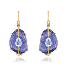 Tanzanite and Moonstone Earring