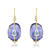 Tanzanite and Moonstone Earrings