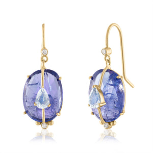 One of a Kind Tanzanite Earrings