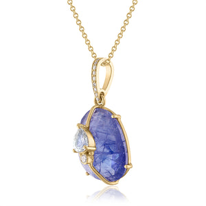 Tanzanite Pendant with Diamonds
