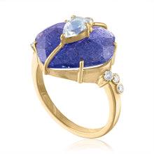 Tanzanite Ring with Moonstone