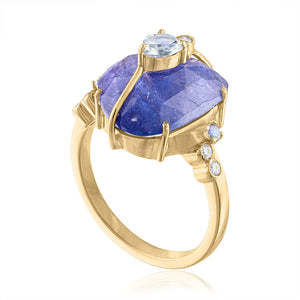 Tanzanite and Moonstone Ring