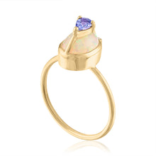 Ethiopian Ring with Tanzanite and Diamond