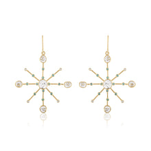 Diamond Slice Starburst Earrings