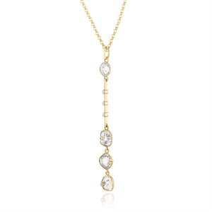 Diamond Slice Linear Pendant Side View