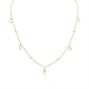 Diamond Slice Layering Necklace