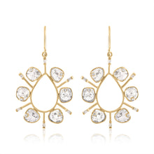 DIAMOND SLICE STATEMENT EARRINGS
