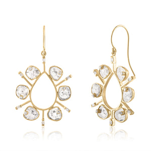 STATEMENT EARRINGS WITH DIAMOND SLICES
