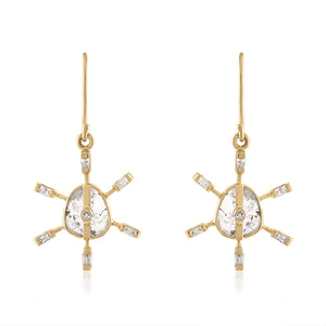 DIAMOND SLICE DANGLE EARRINGS