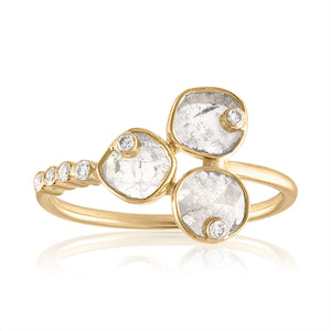 diamond slice cluster ring