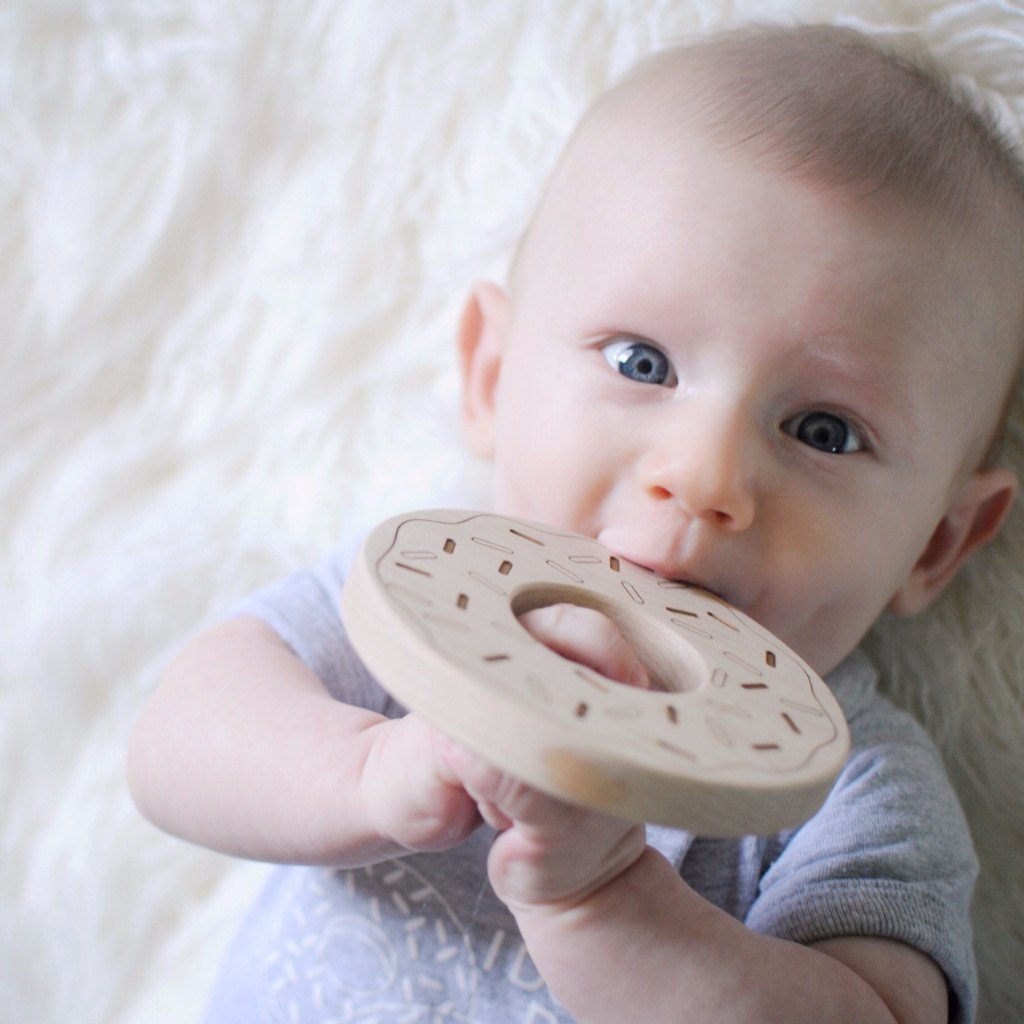 baby donut wooden teether