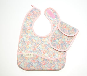Bib Dining Apron in Liberty® Pink Florals - Happy Poppets