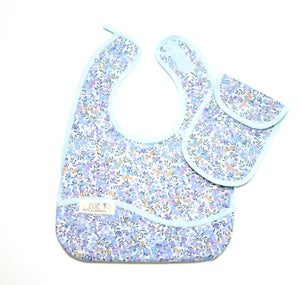 Bib Dining Apron in Liberty® Wiltshire in Blue - Happy Poppets