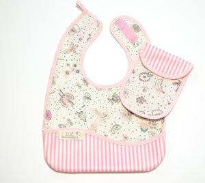 Bib Dining Apron in Liberty® Pink Garden - Happy Poppets
