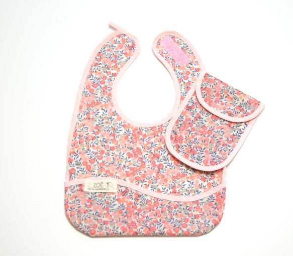 Bib Dining Apron in Liberty® Wiltshire in Pink - Happy Poppets