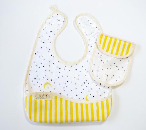 Bib Dining Apron in Starry Night - Happy Poppets