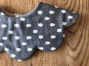 Bib Clouds in Grey - Happy Poppets