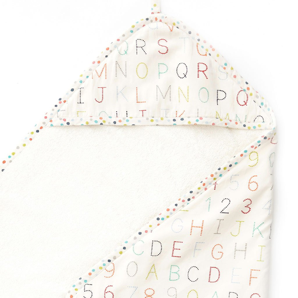 Towel Alphabet Hooded Towel - Happy Poppets