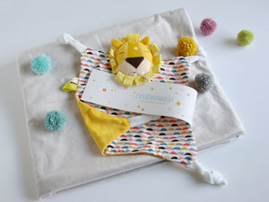 Baby Comforter Snuggly Baby Lion - Happy Poppets