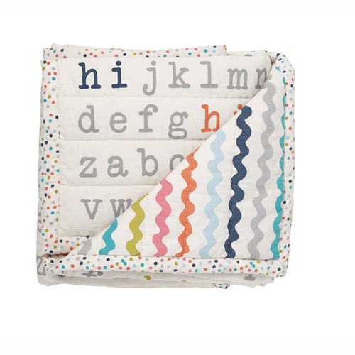 Blanket Hi Alphabet Blanket Multi - Happy Poppets