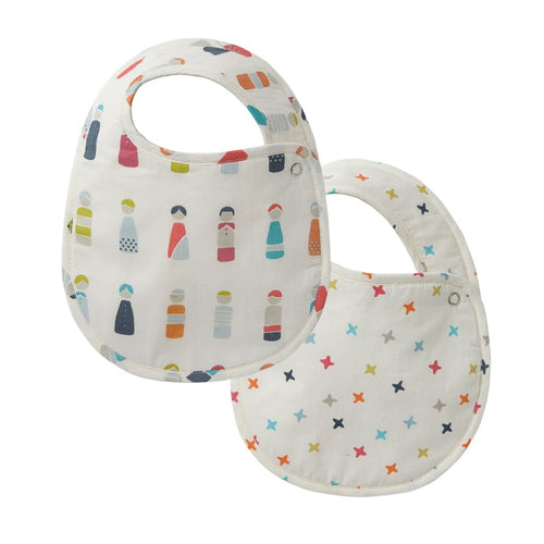 Bib Little Peeps & Rainbow Jacks Bib, Set of 2 - Happy Poppets