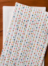 Burp Cloths Organic Cotton Burp Cloths in Rainbow Bobbers (Set of 2) - Happy Poppets