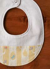 Bib Organic Cotton Baby Bib in Yellow Tree Stripes - Happy Poppets