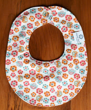 Bib Organic Cotton Baby Bib in Tulip Toss - Happy Poppets