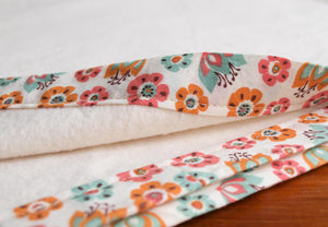 Organic Blanket Organic Cotton Bound Edge Blanket in Tulip Toss - Happy Poppets