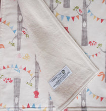 Organic Blanket Organic Cotton Patterned Blanket in Woodland Party - Happy Poppets