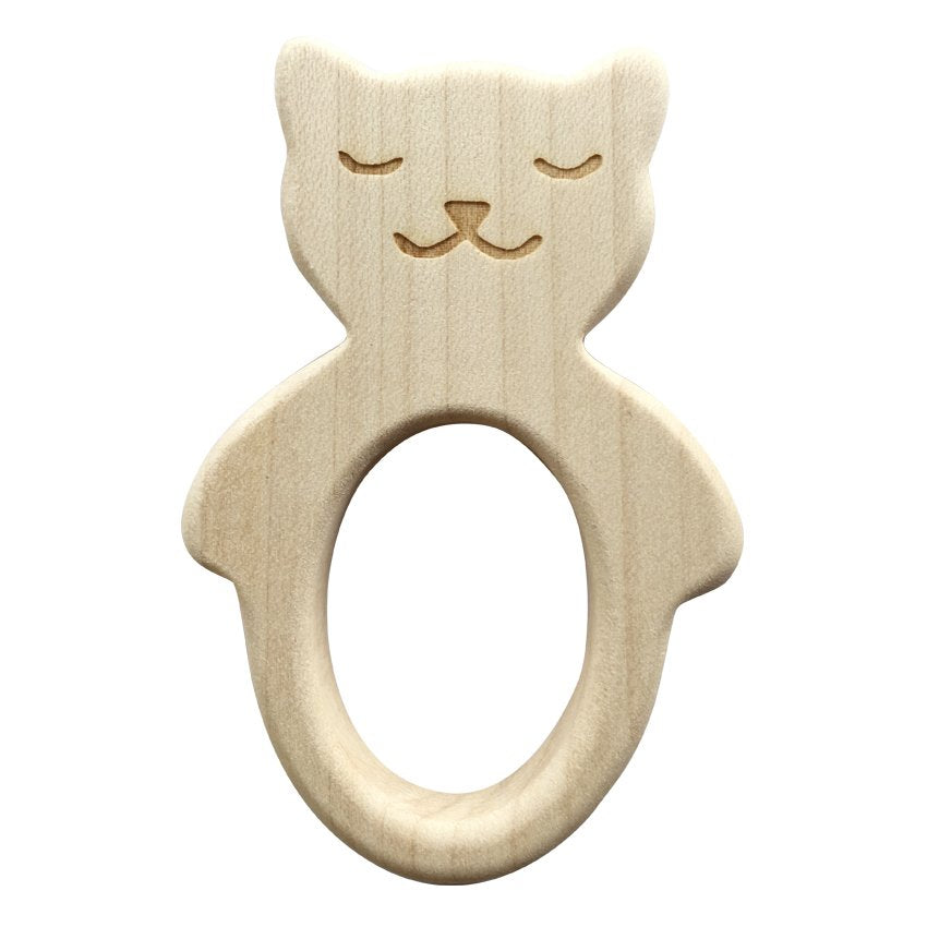 Teether Cat Teething Ring - Happy Poppets