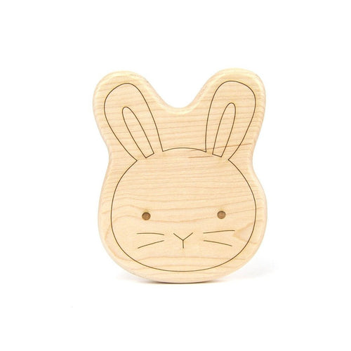 Teether Bunny Wood Toy Teether - Happy Poppets