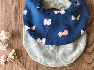 Bib Blue Butterflies / Greyish Green Circles - Happy Poppets