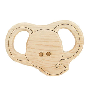 Teether Elephant Wood Toy Teether - Happy Poppets