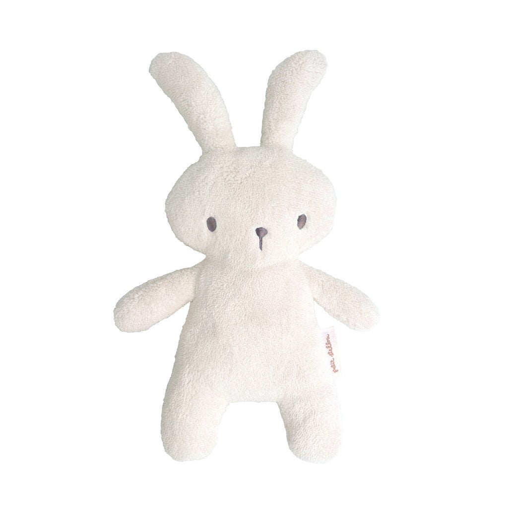 Soft Toy Bunny Rattle in Ivory - Happy Poppets