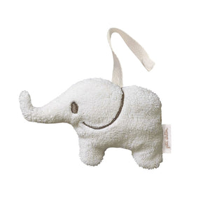 Soft Toy Mini Rattle Elephant in Ivory - Happy Poppets