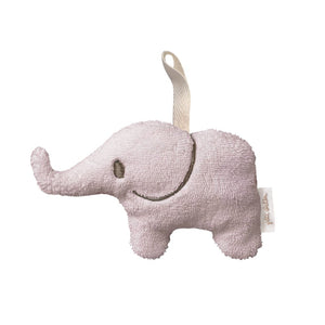 Soft Toy Mini Rattle Elephant in Pink - Happy Poppets