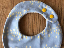 Bib Misty Blue / Grey with Silver Stars - Happy Poppets