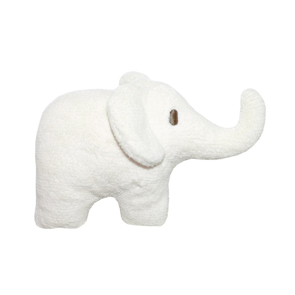 Soft Toy Elephant Rattle in Ivory - Happy Poppets