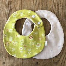 Bib Yellow Floret / Pink with Silver Stars - Happy Poppets