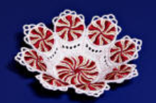 "E151  K-Lace™ Peppermint Candy Cup for Big Hoops (fits 5""x 7"" hoops)"