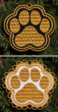 E179 Paw Print Ornament or Coaster
