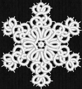 F002 Snowflake 2 K-Lace ™ Freestanding lace