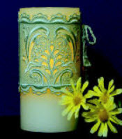 "E522 K-Lace Dolphin  3"" Flameless Candle Corset $12 or  Coasters/Ornaments $8 or Bundle of both designs $16"