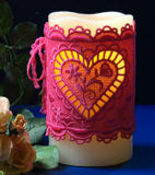 E455 K-Lace Heart Candle Corset