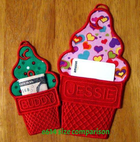 E614 Ice Cream Cone Gift Pockets